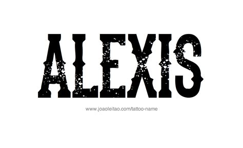 alexis tattoo name designs