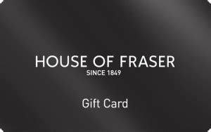 Frasers Gift Card - house of fraser gift vouchers and gift cards house of