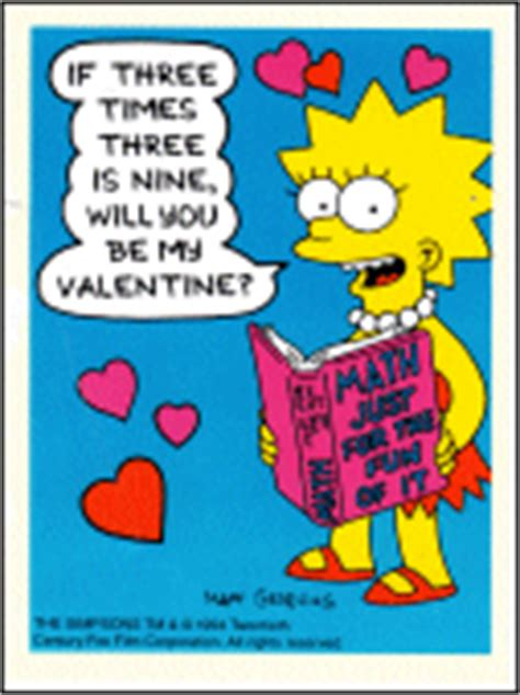 simpsons valentines day the simpsons archive greeting cards simpsons valentines