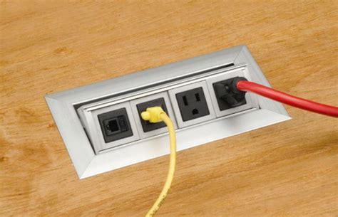 concealed data and power outlets for the office and kitchen