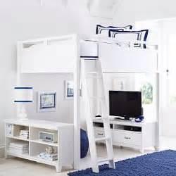 Loft Bedroom Furniture Teen Loft Beds Amp Bunk Beds Pbteen