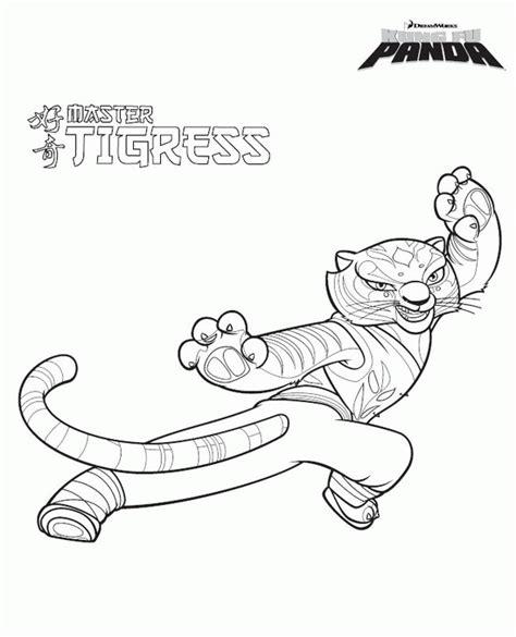 kung fu panda tigress coloring tigres kung fu panda coloring pages