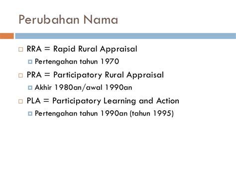 Pra Participatory Rural Appraisal 1 participatory rural appraisal pengenalan