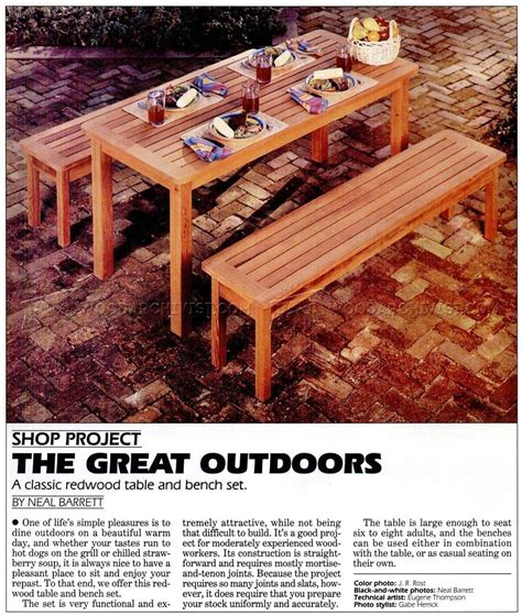 outdoor table and bench plans outdoor table and bench plans woodarchivist