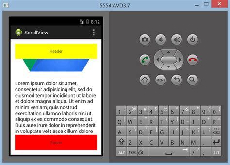 membuat layout menu android membuat layout scrollview dengan banyak elemen di android