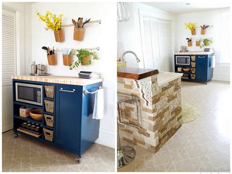 Kitchen Pantry Ideas For Small Spaces by Custom Diy Rolling Kitchen Island Reality Daydream