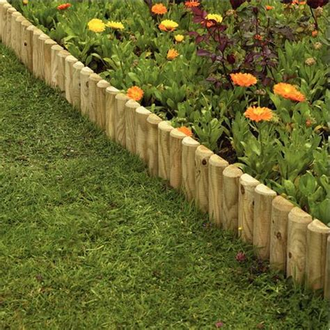 Garden Border Fence Ideas Garden Border Ideas Uk Gardens Fencing Garden Edgings Log Rolls Border Edging 15cmx1m 500x500