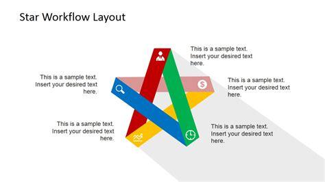 five steps flat diagram for powerpoint slidemodel
