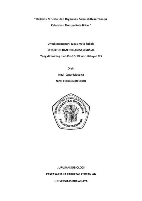 desain dan struktur organisasi makalah makalah struktur dan organisasi sosial novi catur muspita