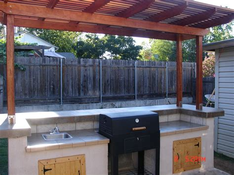 build  backyard barbecue  steps  pictures