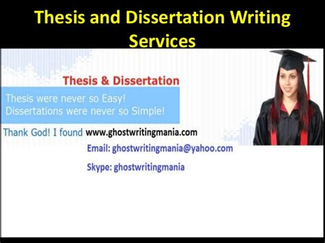 dissertation writing service thesis and dissertation writing services