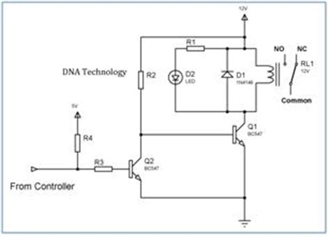 transistor driver relay interfacing relay to microcontroller