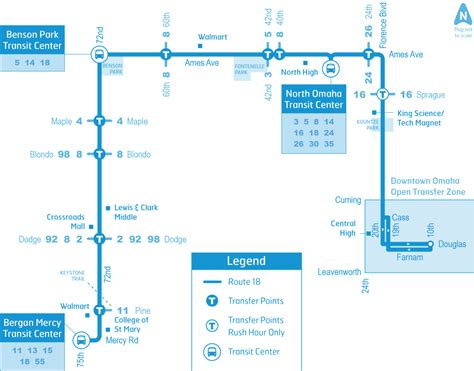 Iowa Mba Pm Schedule by Omaha Metro Route 18