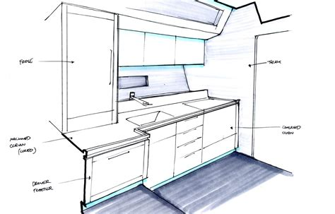 yacht galley layout yacht sans galley rendering yacht charter superyacht news