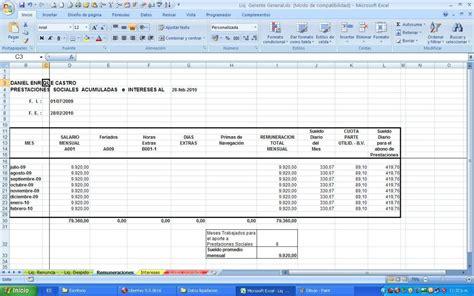 Calculos De Prestaciones Sociales Liquidacion Lottt Vigente Bsf | calculo de prestaciones sociales bajo lottt ley vigente