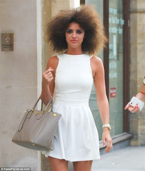 hairdo meck length lucy mecklenburgh ditches the afro and goes back to her