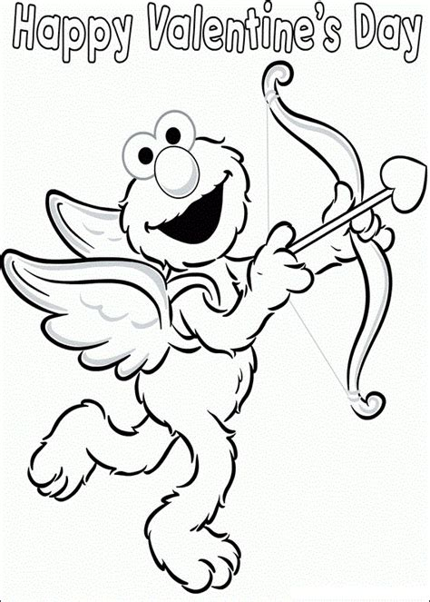 elmo valentine coloring page free elmo coloring pages printable coloring worksheets 10