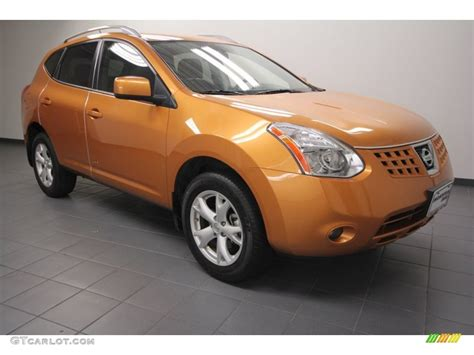 orange nissan rogue 2008 orange alloy metallic nissan rogue sl 68988221 photo