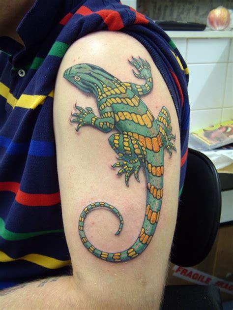 new school lizard tattoo 34 creepy lizard tattoo designs for men women picsmine