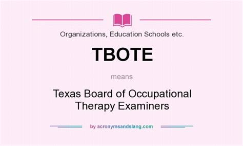 themes of meaning occupational therapy tbote texas board of occupational therapy examiners in