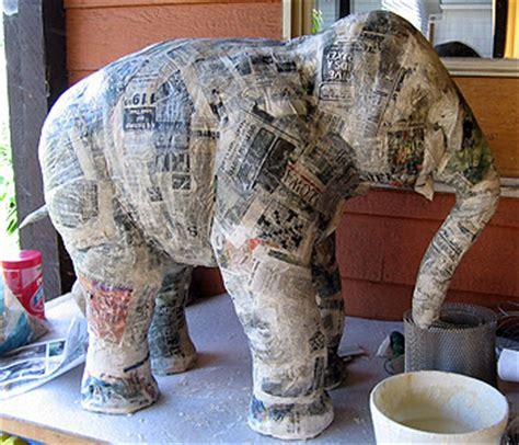 A Paper Mache - patent pending projects paper mache elephant project