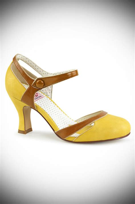 A Late Addition To The Yellow Shoe Roundup Patent Peep Toe Pumps From Bcbgirls To 4999 At Smartbargains by Vintage Style Footwear