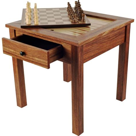 Wbxonia Set 3 In 1 trademark deluxe wooden 3 in 1 chess and backgammon table set 80 411 the home depot