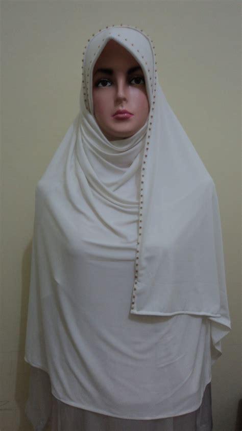 Jilbab Putih Jilbab Hameeda Arafa Toko Untuk Jilbab Kerudung