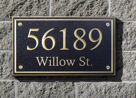 rectangle home address plaque