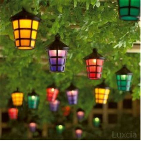 Patio Lantern Lights by Set Of 40 Mains Operated String Coloured Garden Indoor