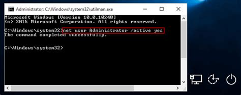 reset vista admin password command prompt reset windows 10 local admin password with command prompt