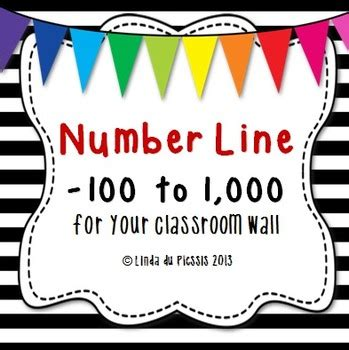 printable number line for classroom wall number line 100 to 1 000 big for your wall by lindy du