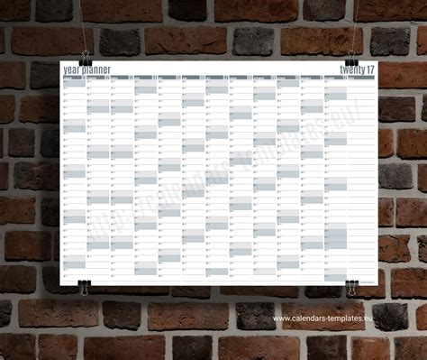 daily planner 2018 yearly wall planner agenda template best year planner 2018 template printable planner