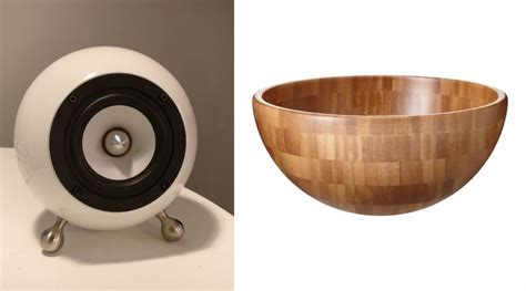 ikea wooden bowl diy spherical speakers made out of ikea salad bowls