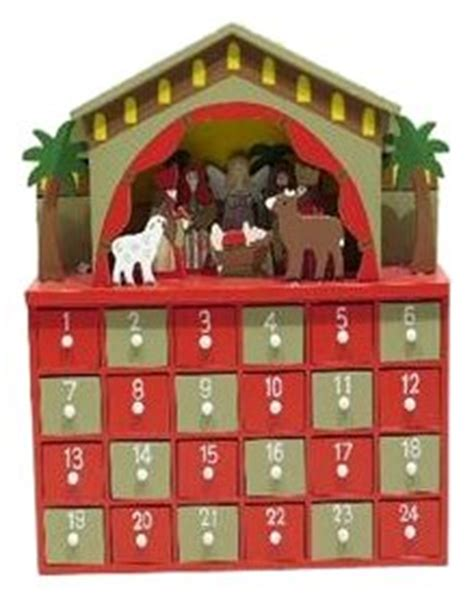 wooden nativity advent calendar with drawers premier decorations wooden nativity advent