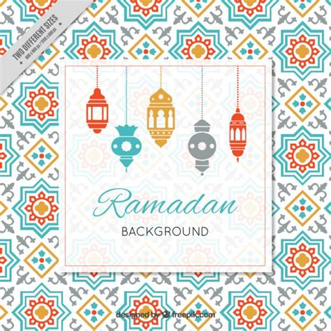 ramadan pattern vector ramadan background with arabic ls vector free download