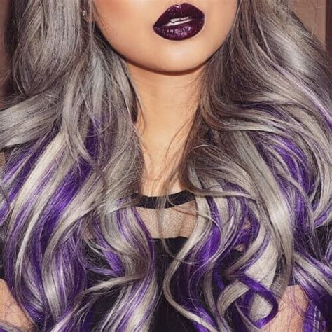52 lavish gray hair ideas you ll love hair motive hair photos gray hair with purple undertones black hairstle