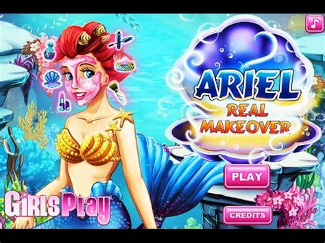 Disney Little Mermaid Ariel- Ariel Real Makeover- Fun ... Kids Games For Girls Disney Free Online