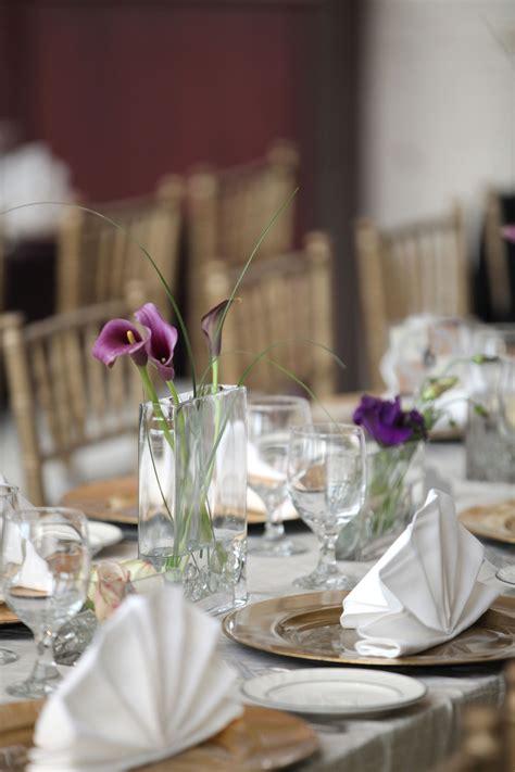 simple calla lily centerpieces