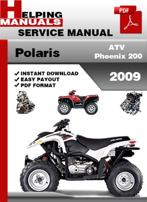 Polaris Atv Phoenix 200 2009 Service Repair Manual