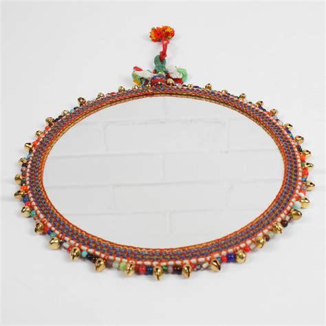 beaded mirrors boho beaded mirror by bohemia notonthehighstreet