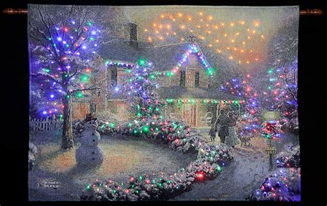 thomas kinkade quot heart of christmas quot illuminated hanging