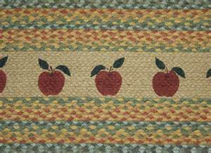 country rug apple rug braided oval kitchen rug country