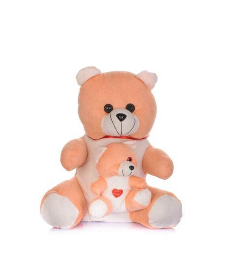 Setelan Cowok Baby Bears Orange arihant orange soft fabric teddy with baby buy arihant orange soft fabric