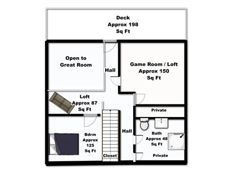 upper floor plan riverside retreat upper floor plan