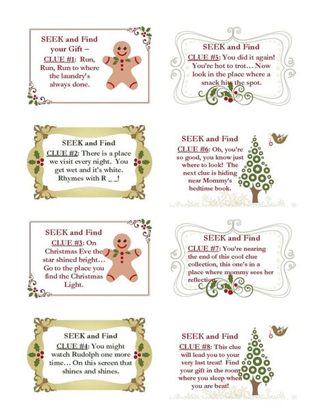 25 best ideas about christmas scavenger hunt on pinterest