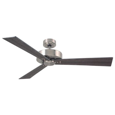 monte carlo vision 52 in brushed steel ceiling fan with