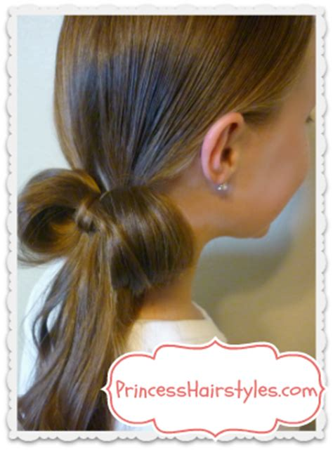 One Elastic Hairstyles | 1 elastic bow made from hair easy hairstyles