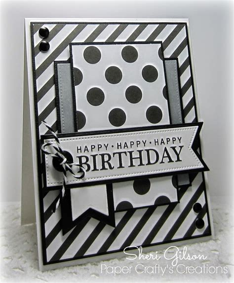 Card With Button Noir Sur Blanc paper crafty s creations the deconstruced sketch