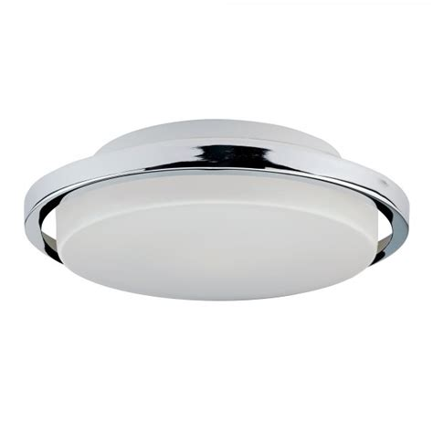 Low Energy Ceiling Lights Led Bathroom Ceiling Light Circular Fitting With Opal Glass And Chrome